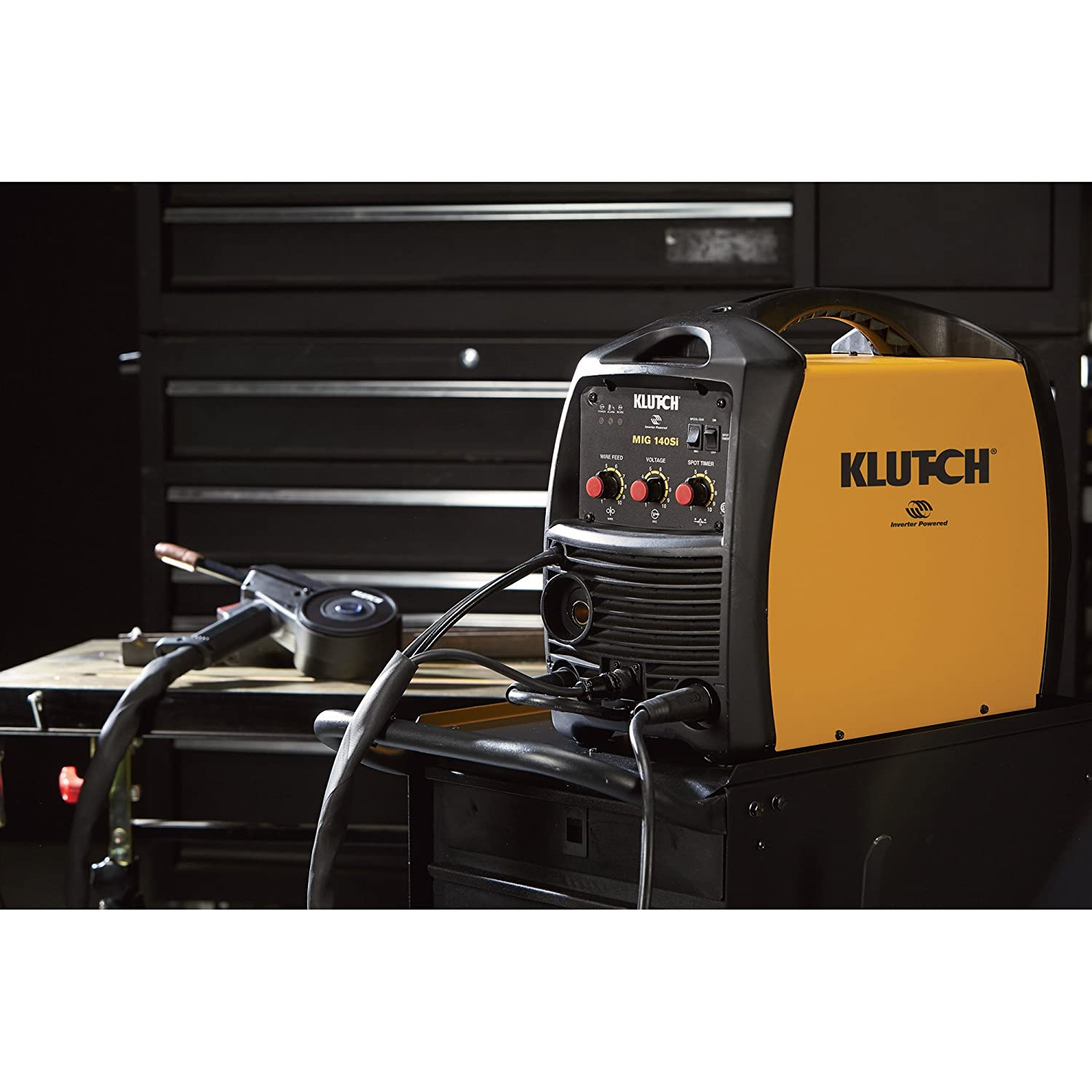 Klutch MIG 140SI Inverter-Powered Wire-Feed MIG Welder - 140 Amp ...