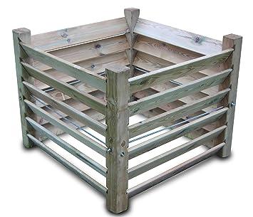 Compostador de madera (medidas: 100x 100x 80cm,