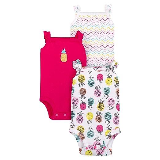 84dbd6e694c8b LAMAZE Organic Baby Girl, Boy, Unisex Bodysuits, Pink Pineapples, 0-3M
