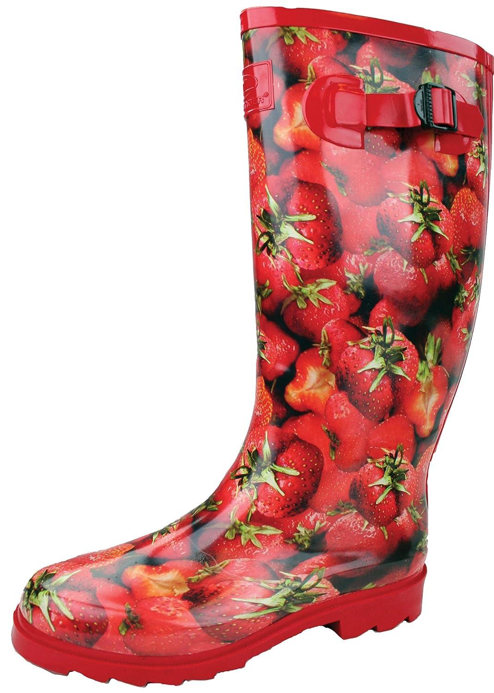 Highlander Damen Gummistiefel Countrywoman rot Strawberries Size 9 jNMSf7IBuG