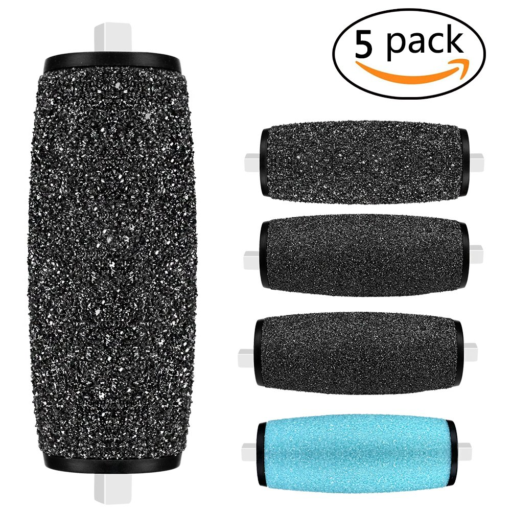 Replacement Roller Refill Heads for Pedi Perfect Electronic Foot File with Diamond Crystals (5 Pack)