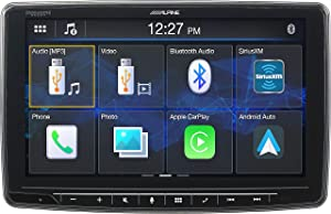 "Alpine iLX-F259, Halo9 9"" Single Din Mech-Less Digital Media Receiver, Apple CarPlay/Android Auto"
