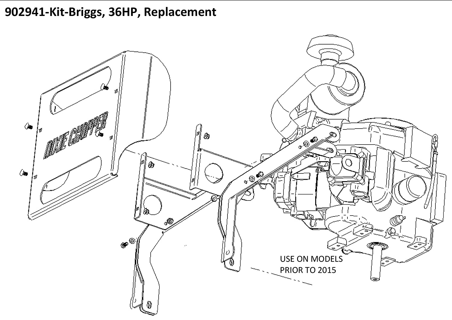 Dixie Chopper Oem Briggs Repl 36 Hp Engine Kit For Vanguard Wiring Diagram 3 Electric Clutch Engines Generac 27 33 902941 Garden Outdoor