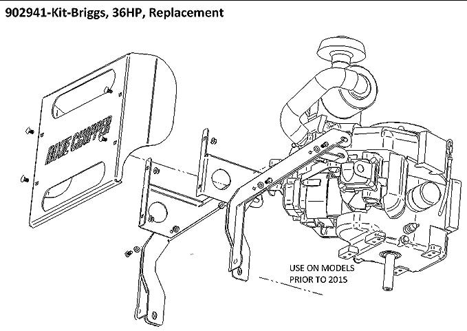 Dixie Chopper OEM Briggs Repl 36 HP Motor Kit para 36 HP motores Vanguard para embrague eléctrico (Generac 27 & 33 HP)/902941: Amazon.es: Jardín