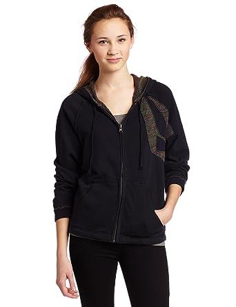 d8a4cb80e6e Volcom Juniors Hoodlum Two Zip Poncho Fleece Sweater at Amazon ...
