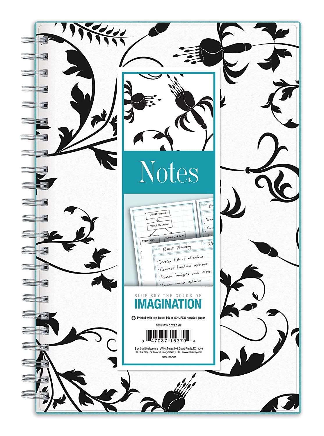 Amazon.com : Blue Sky Fashion Journal Notebook, Lined Pages, Wire-O ...