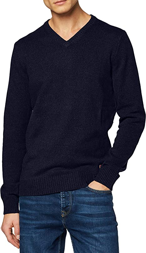 Men Plain Jumpers V-Neck for Business Office Knitwear Tan Camel Khaki