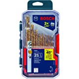 Bosch TI21A Titanium-Coated Metal Drill Bit Set (21 Piece)