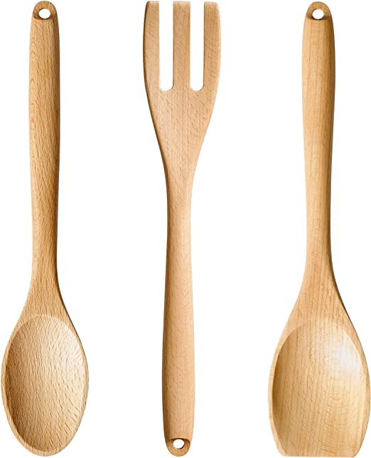 Amazon Com Ikea Rort Kitchen Tool Set Of 3 Round Spoon Square