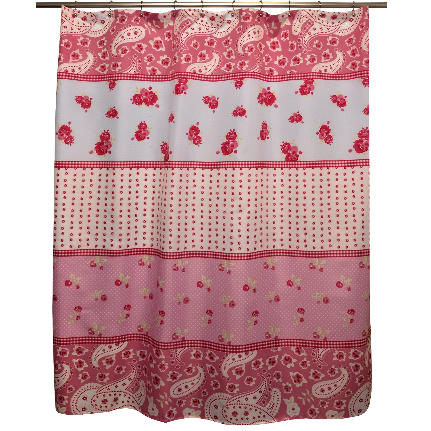 Amazon Famous Home Shabby Chic Shower Curtain Rose Kitchen
