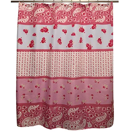 Famous Home Shabby Chic Shower Curtain Rose