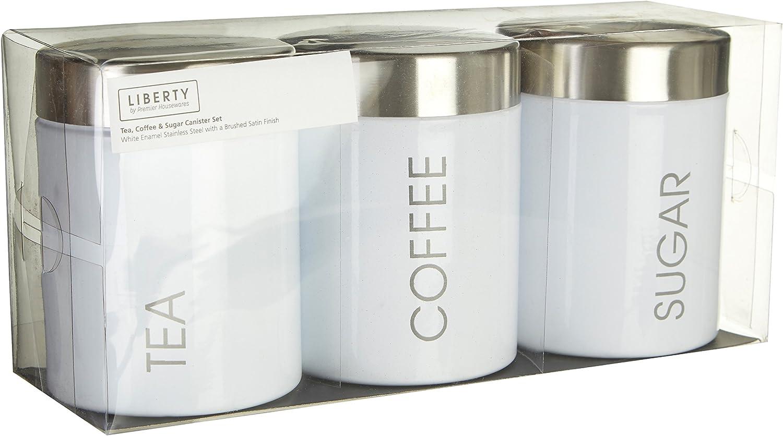 LIBERTY ENAMEL TEA COFFEE SUGAR BREAD BISCUIT STORAGE CANISTER PASTA UTENSIL JAR