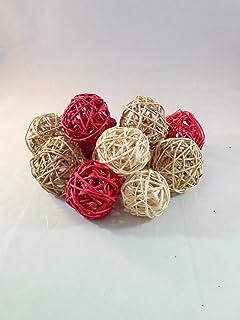 Amazon Com Decorative Spheres Lime Green Rattan Ball Vase Filler