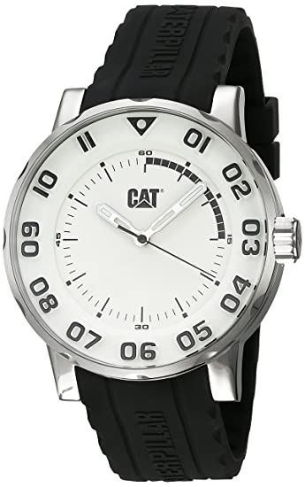And Quartz Steel Stainless Ii' Men's Watches 'bold Silicone Cat PZkiuX