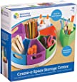 Learning Resources Create-a-Space Storage Center, Homeschool Storage, Fits 3oz Hand Sanitizer Bottles, Bright Colors, Classroom Craft Keeper, 10 Piece Set