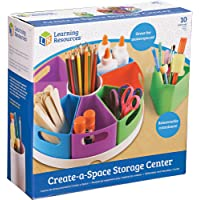 Learning Resources LER3806 Create-a-Space Storage Center, Homeschool Accessories, Fits 3oz Hand Sanitizer Bottles…