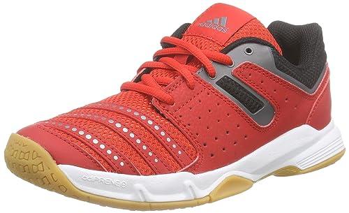 adidas Court Stabil J, Zapatillas de Balonmano Unisex niños, Rojo/Blanco/Negro (Rojint/Ftwbla/Nocmét), 34 EU: Amazon.es: Zapatos y complementos