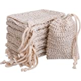 10 Pack Exfoliating Natural Soap Bag Pouch Soap