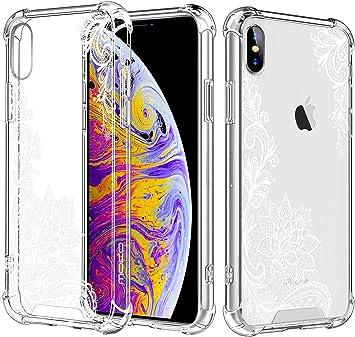 MoKo Compatible con iPhone XS MAX Funda, Cubierta Resistencia a Arañazos Protector con Transparente Dura Carcasa de Flexible TPU para iPhone XS MAX 6.5