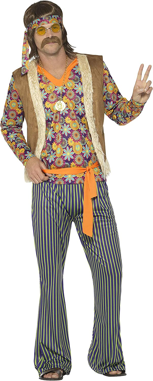 SmiffyS 44680S Disfraz De Cantante Hippie Años 60 Con Camiseta ...