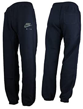 bf4458e09 Nike Air Mens Tracksuit Bottoms Jog Pant Fleece Joggers Cuffed Pant Navy  Sizes S M L XL New