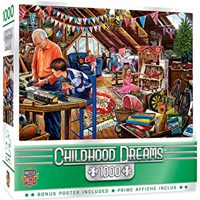 MasterPieces Childhood Dreams - Playtime in The Attic 1000-Piece Jigsaw Puzzle: Toys & Games