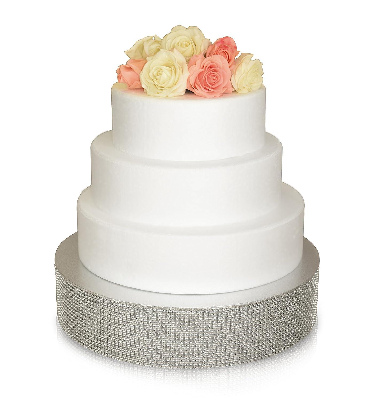 Amazon.com Bling Wedding Cake Stand  Cupcake Base  Dessert Serving Plate / Centerpiece (16\u0027\u0027 Round Silver) Kitchen \u0026 Dining  sc 1 st  Amazon.com & Amazon.com: Bling Wedding Cake Stand  Cupcake Base  Dessert ...