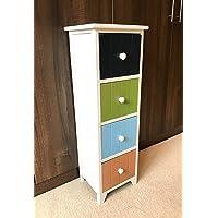 New Childrens Bedroom Furniture Chest of Drawers Kids Nursery Retro Storage Unit