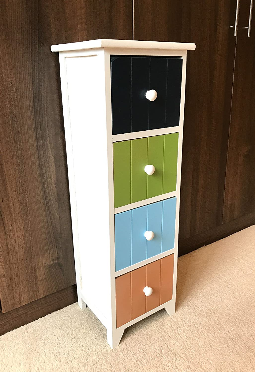 New Childrens Bedroom Furniture Chest of Drawers Kids Nursery Retro Storage Unit Home Delights