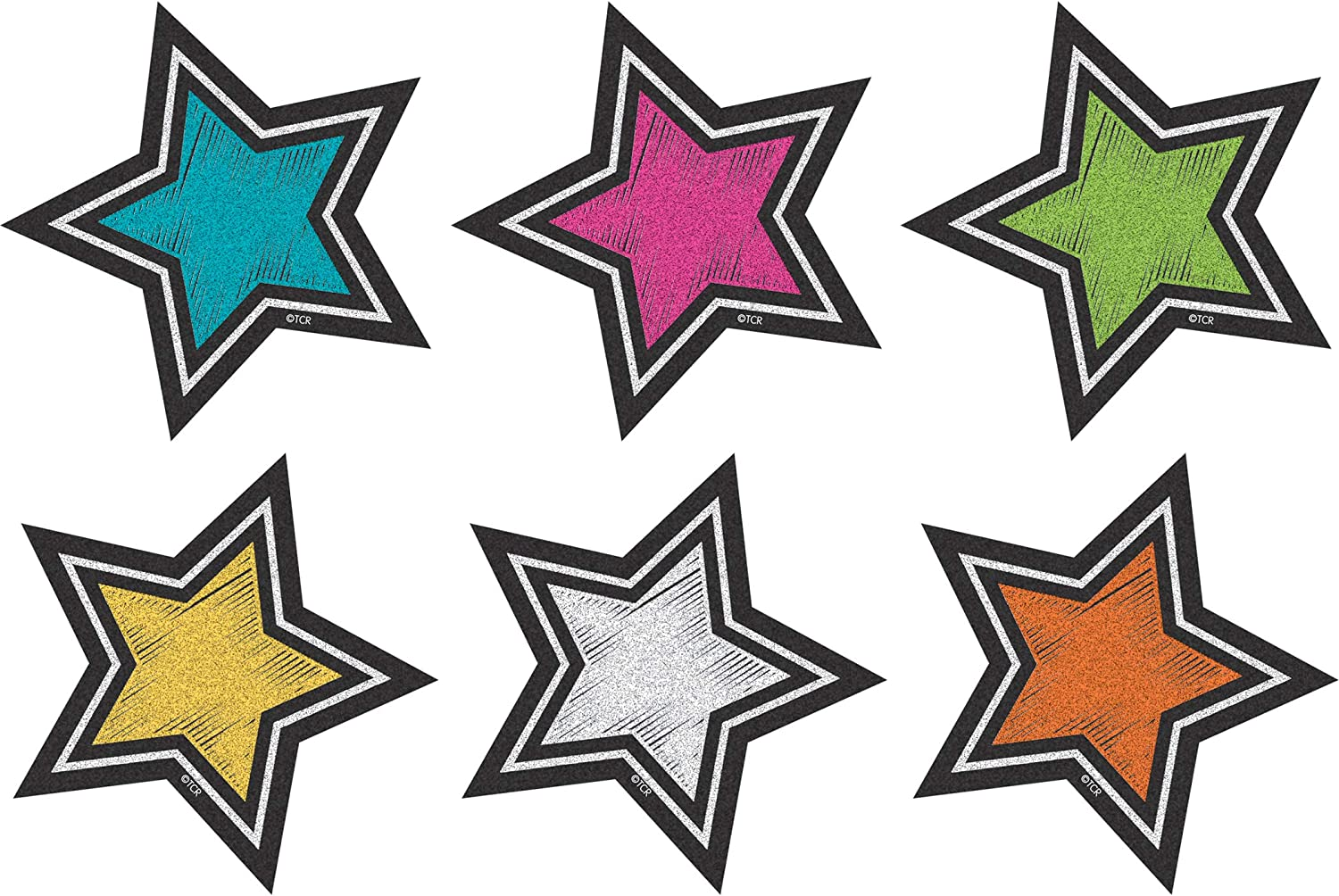 Teacher Created Resources (3554) Chalkboard Brights Stars Mini Accents
