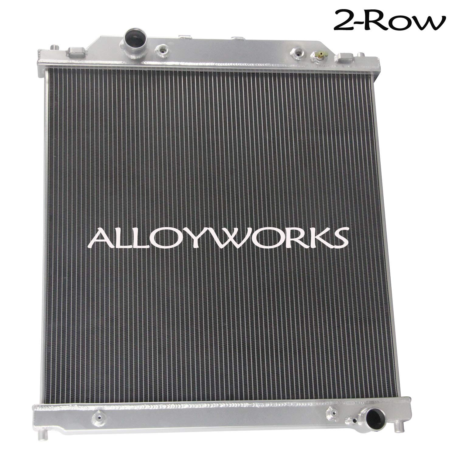 ALLOYWORKS 2 Row Aluminum Radiator for Ford F250 F350 Super Duty 2003-2007/Ford Excursion 2003-2005 6.0L Powerstroke Engine