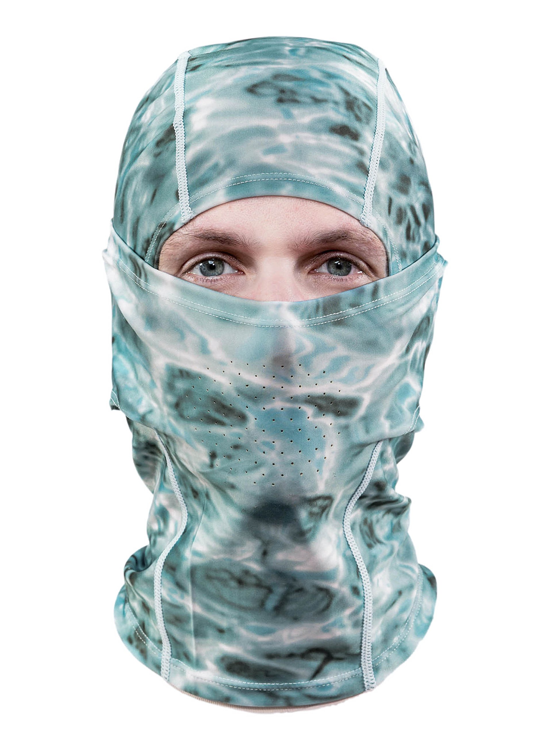 Aqua Design: Cool Weather Mens Face Mask UPF50+ Sun Wind Helmet Liner Balaclava: Aqua Sky by Aqua Design (Image #1)