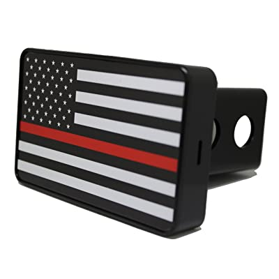 Bright Hitch - Thin Red Line American Flag Hitch Cover: Automotive