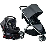 BRITAX B-Lively Travel System with B-Safe 35 Infant Car Seat | One Hand Fold XL Storage Ventilated Canopy, Dove (S05587900)