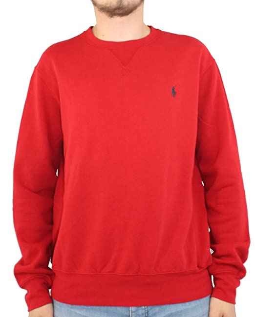 Polo Ralph Lauren para hombre Jersey sudadera polar rojo pd14 multicolor Multicolor M: Amazon.es: Ropa y accesorios