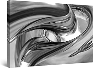 "Startonight Canvas Wall Art Black and White Abstract Destiny, Framed Quantic Home Decor for Living Room 32"" x 48"""