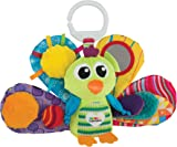 Lamaze Jacques the Peacock - Clip On Pram and Pushchair Newborn Baby Toy - Suitable from Birth