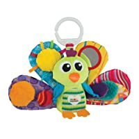 Lamaze Jacques the Peacock - Clip On Pram and Pushchair Plush Baby Toy