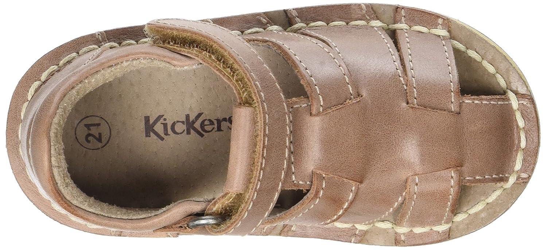 Kickers WILLOH Marron Sandales b/éb/é gar/çon Camel 23 EU