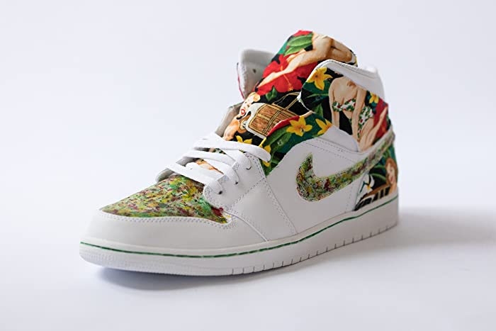 69f42418f0cb9 Image Unavailable. Image not available for. Color  Nike Air Jordan 1 Custom  Mens  Hawaii 5.0  Edition