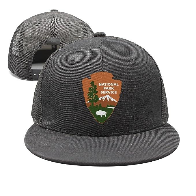 0a208422 bbabylike National Park Service 100th Anniversary Style Flat Bill Snapback  Caps Trucker Hats
