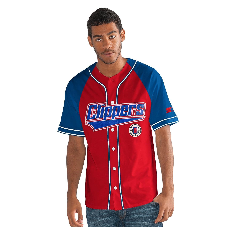 NBAメンズThe Player Baseball Jersey レッド   B075CG3PPV