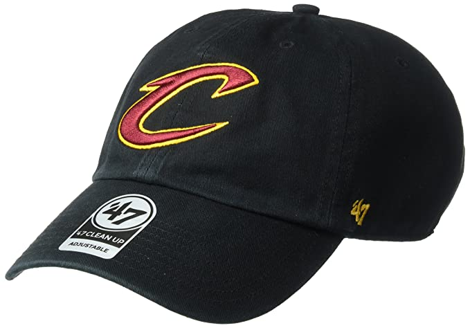 7043e15f563fc3 '47 NBA Cleveland Cavaliers Clean Up Adjustable Hat, Black, One Size. Roll  over image to ...