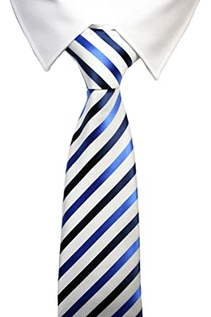 Corbatas rayadas en azul y blanco: Amazon.es: Ropa y accesorios