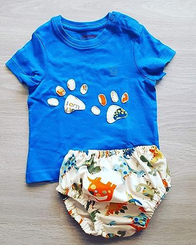 Conjunto cubrepañal ranita bebe estampado dinosaurios tela algodón 100%: Amazon.es: Handmade