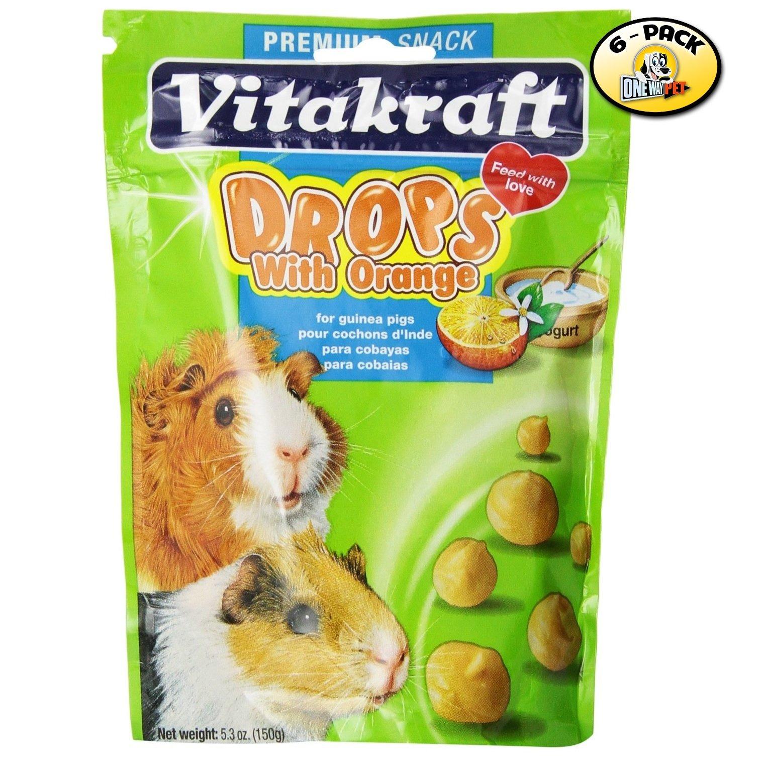 Vitakraft Guinea Pig Orange Drops Treats - 6 PACK