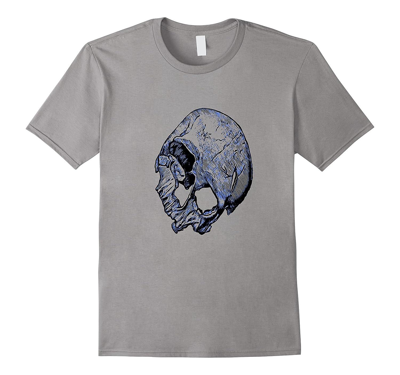 Broken Human Skull In Tattoo Style T-Shirt