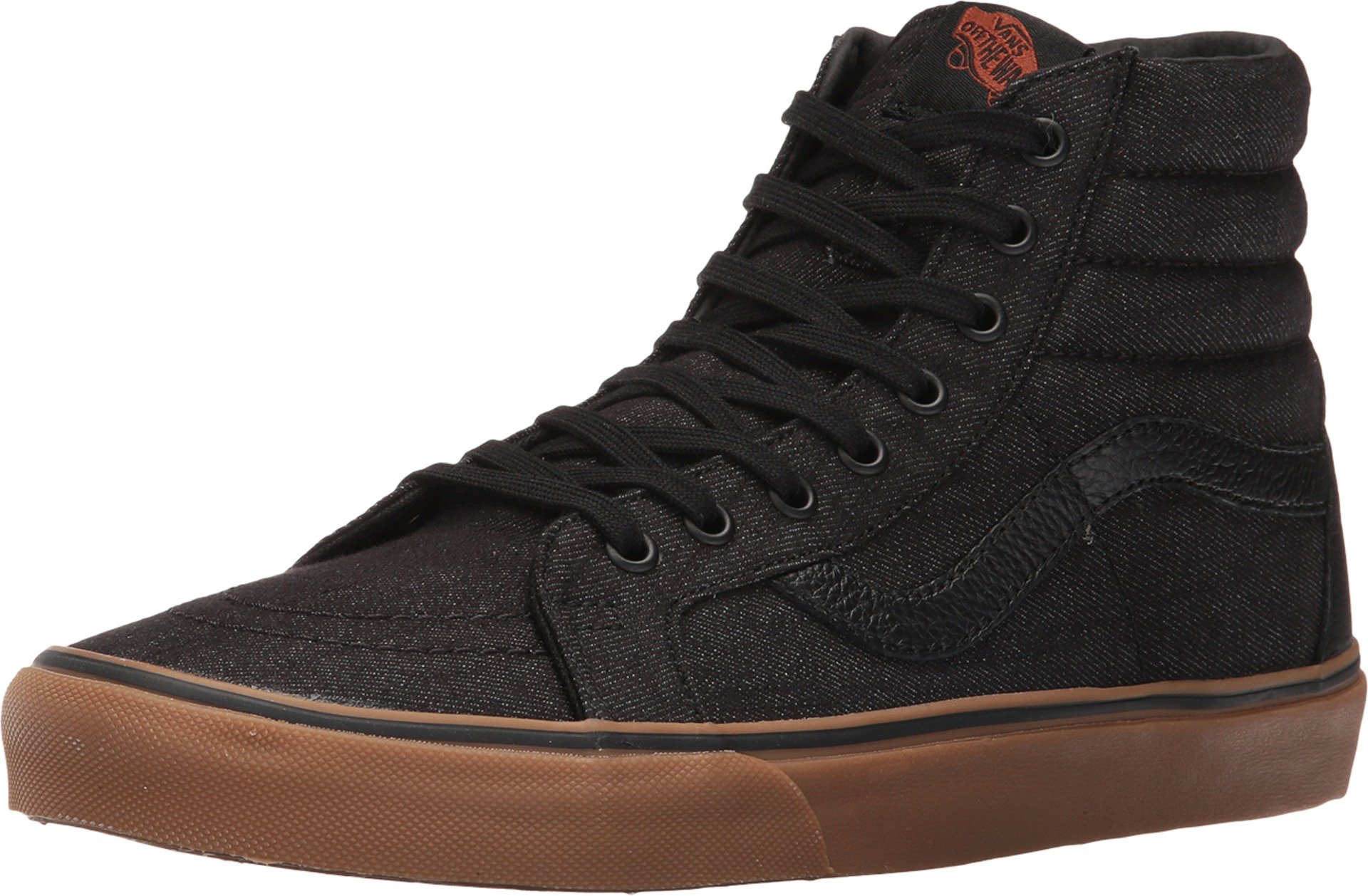 1fb9034376 Galleon - Vans Mens SK8-HI Reissue Denim C&L Sneaker Black/Gum Size 11