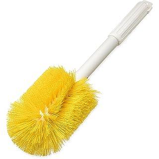 "Carlisle 4000204 Multi-Purpose Oval Valve Brush, 3.5"" x 5"" Polyester Bristles, 16"" Length, Yellow"