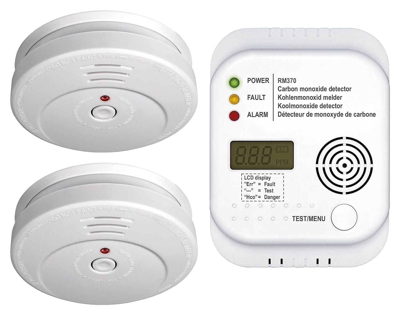 Smartwares FSSCO-15 Detectores de CO2, Calor, Humo y extintor, 9 V, Blanco 10.034.17